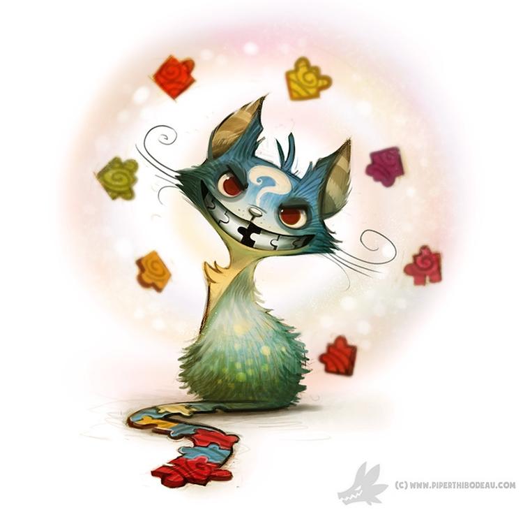 Daily Painting - Cheshire Cat - 914 - piperthibodeau | ello