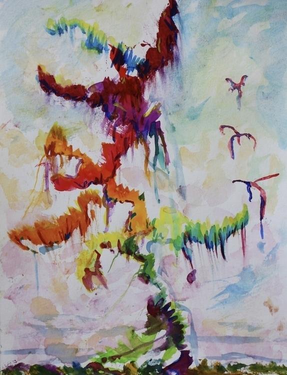 Orleans Storm December 2013 - painting - emmabarda33 | ello