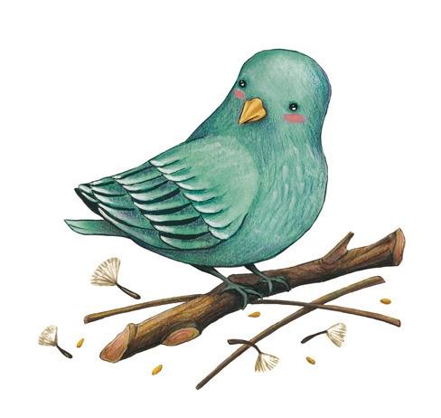 blue bird - illustration, drawing - elisaferreira   ello