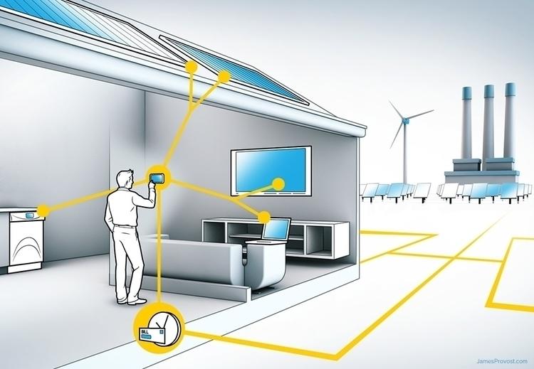 Smart Grid - lineillustration, line - jamesprovost | ello