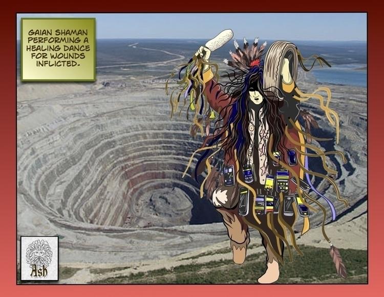 Gaian shaman healing dance - #Gaia,shaman,shamanka,Gaianshaman,witchdoctor,healer,medicineman,medicinewoman,medicinedancer,medicine,dancer,dance - metabaron777 | ello