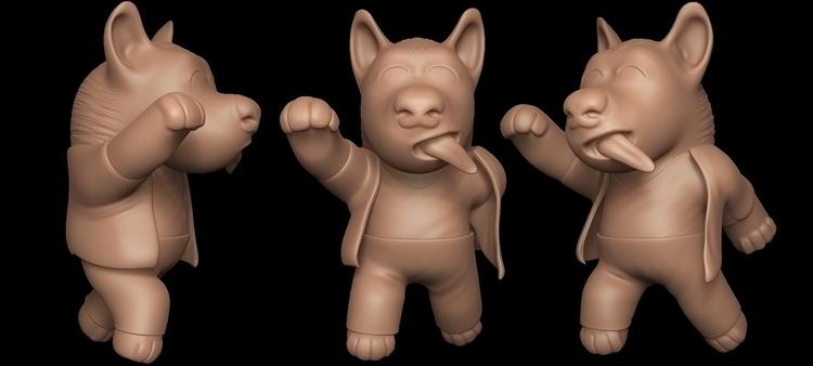 Dancing dog - digitalart, characterdesign - art15 | ello
