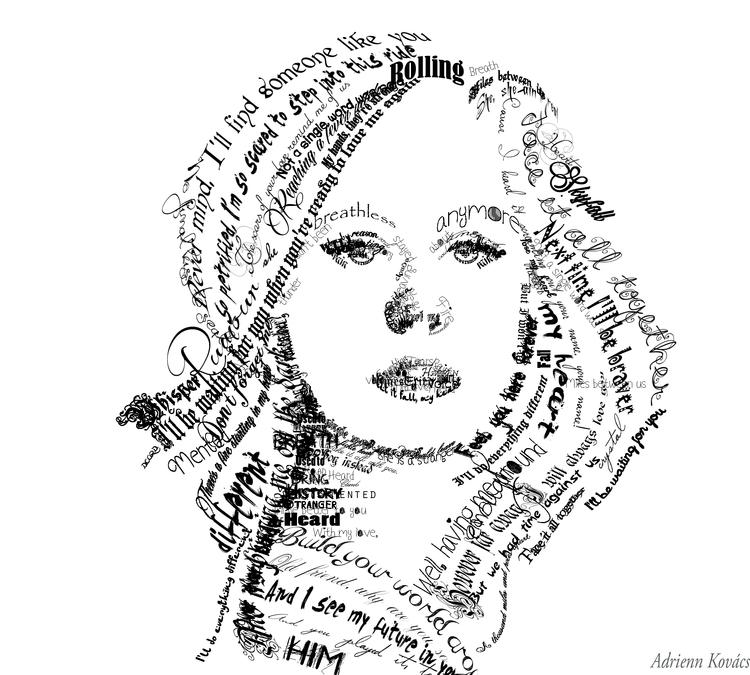 Adele Typography Portrait - design - adriennschmitt | ello