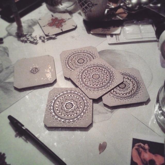 handmade, handdrawn, floral, mandala - saffiri | ello