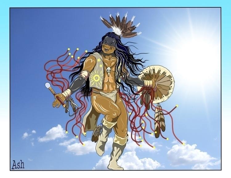 Sky Dancer 1 - native,nativeamerican,nativeamericandancer,firstnations,firstnationsdancer,sundancer,medicine,medicinewheel,medicinedancer,ghostshirt,ghostdance,ghostdancer,shaman,witchdoctor,shamanka,healer - metabaron777 | ello