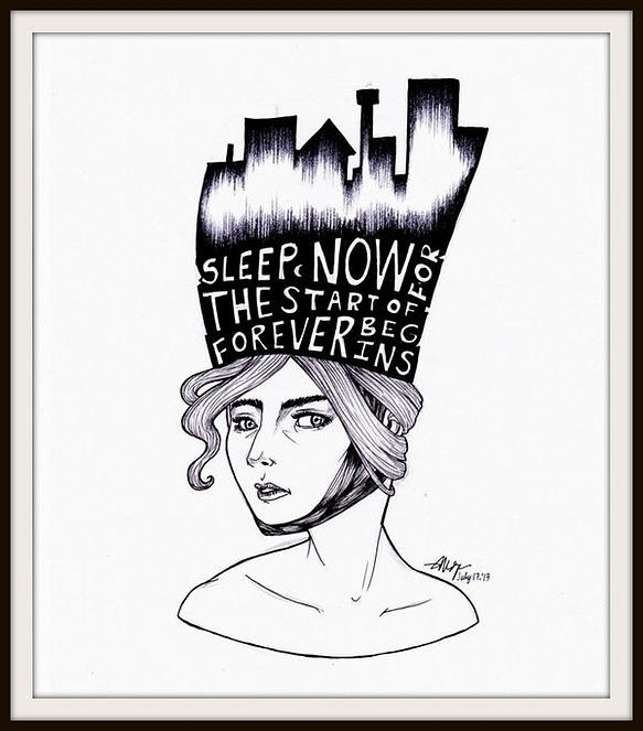 Hush - City Sleeps - illustration - veeyah-1368 | ello