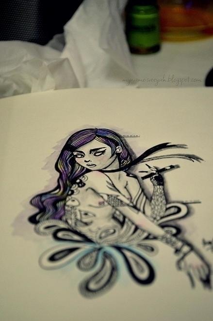 Tattooed Art - illustration, painting - veeyah-1368 | ello