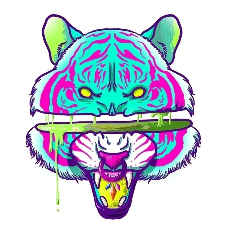 Horny Animals: Tiger - tiger, animal - mushmush | ello