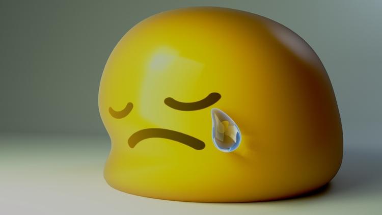 Sad Emoji blender, inspiret goo - jeos10 | ello