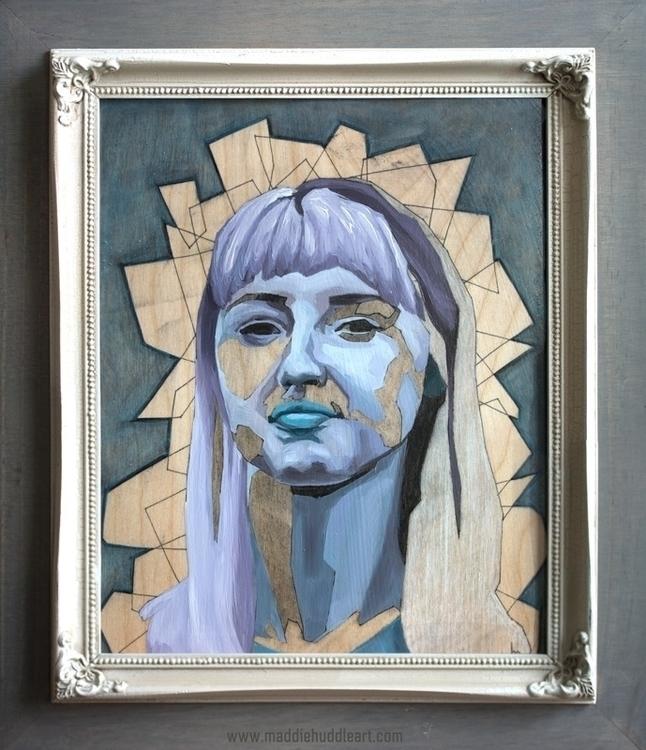 Fusion 2 Oil Charcoal Wood - portrait - maddiehud | ello