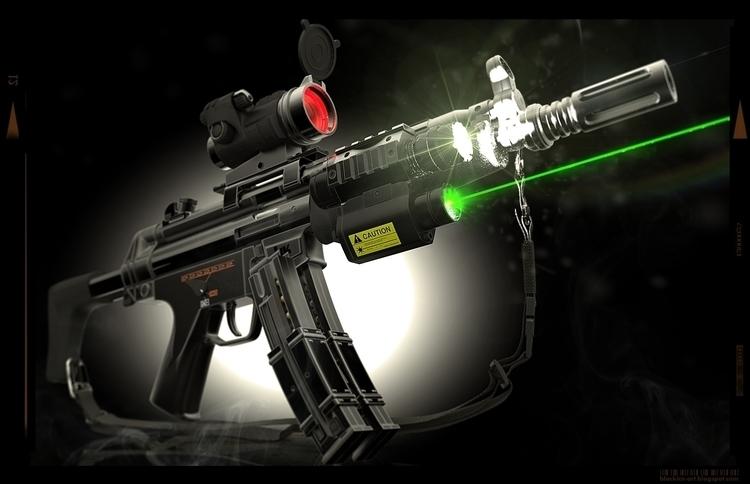 hkmp5, gun, 3d, modeling, 3dart - blackice-1292 | ello
