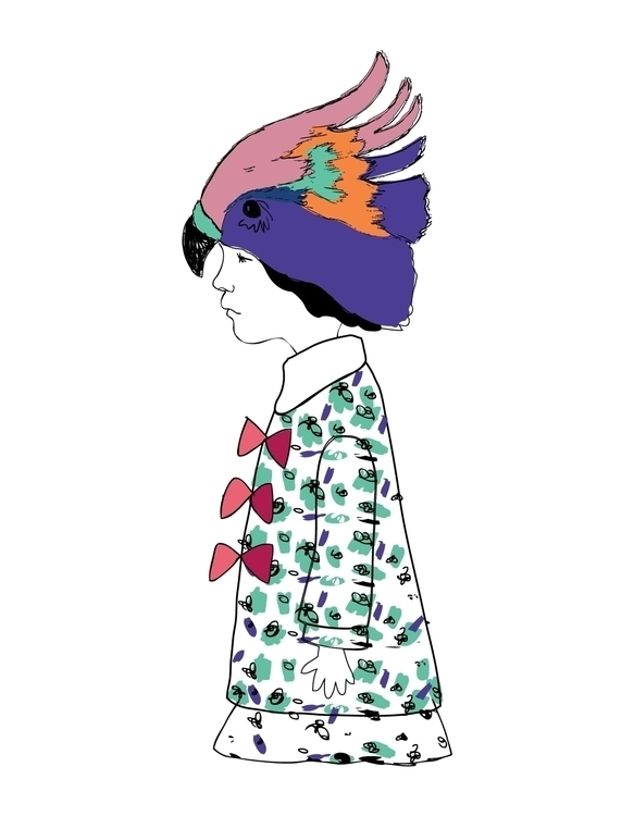 Birdhat Girl Print Created iglo - karitasdottir | ello