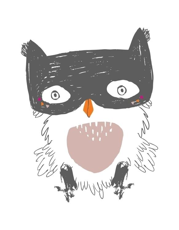 Baby Owl Print Created iglo+ind - karitasdottir | ello
