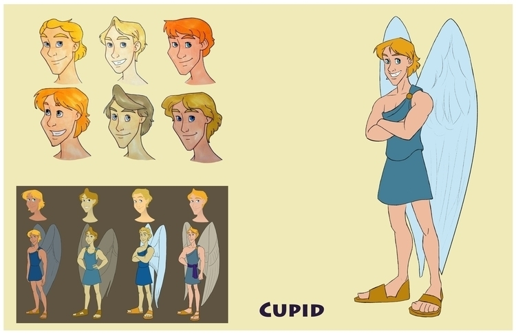 Cupid design sheet - cupid, characterdesign - gallagirl | ello