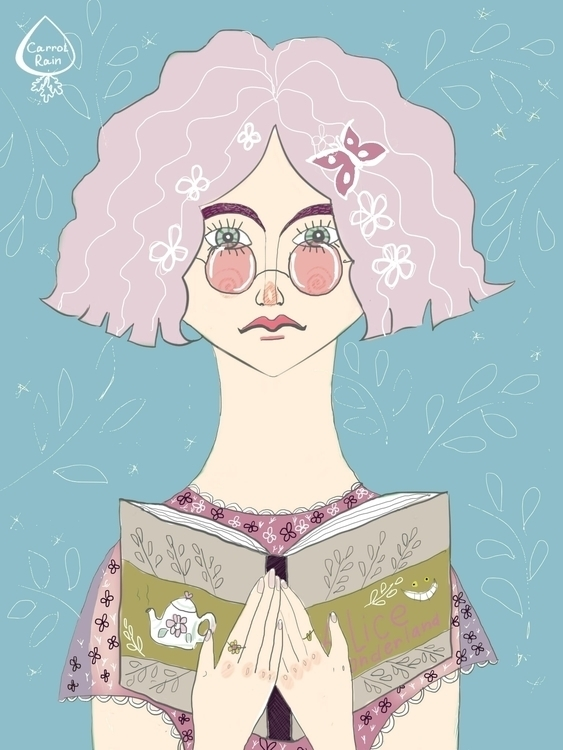 Pink lady - illustration, girl, pinkhair - carrotrain   ello