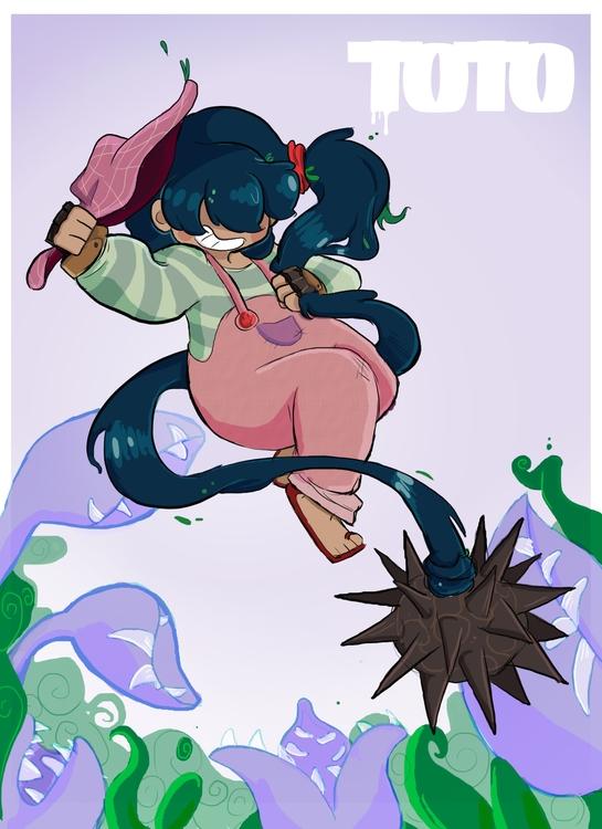 Cute gardner - illustration, characterdesign - rem-7093 | ello