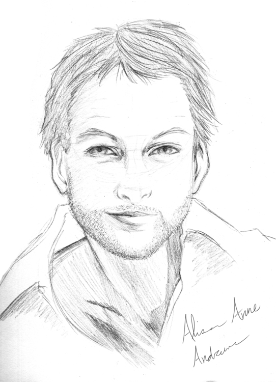Mark Harmon Sketch - drawing, sketch - alisa102 | ello