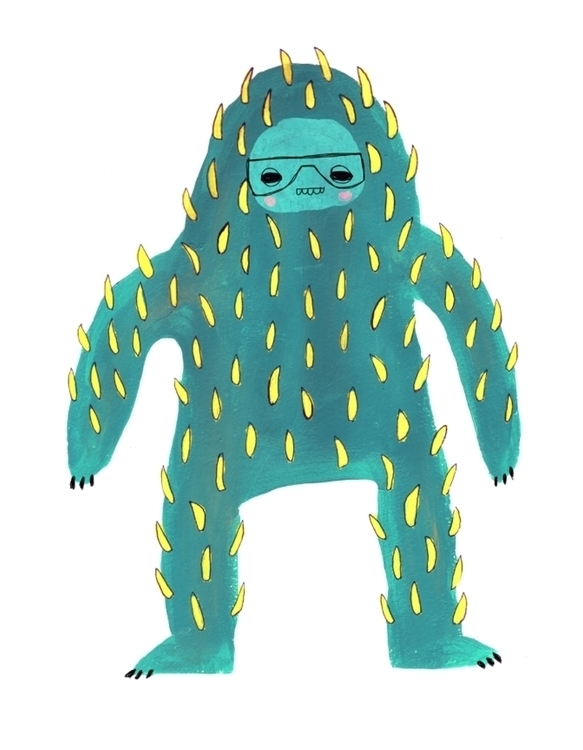 Cactus Monster Print Created ig - karitasdottir | ello