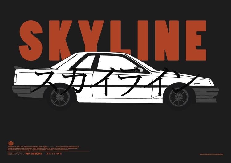 Nissan Skyline R30 poster fun - nissan - rexdesigns | ello