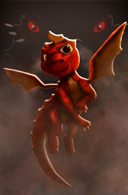 DragonTap game poster artwork - characterdesign - darrikmarstaller | ello