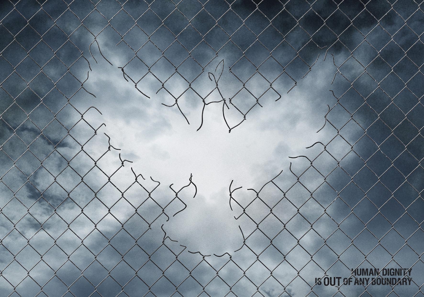 Human dignity boundary. Poster  - rono-1165   ello