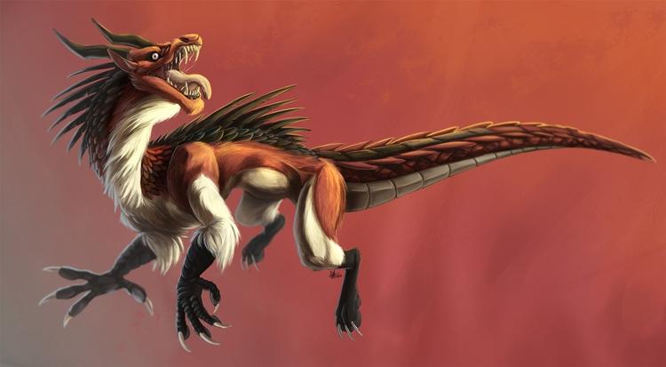 151203 Dragon Digital Painting  - madmeeper | ello