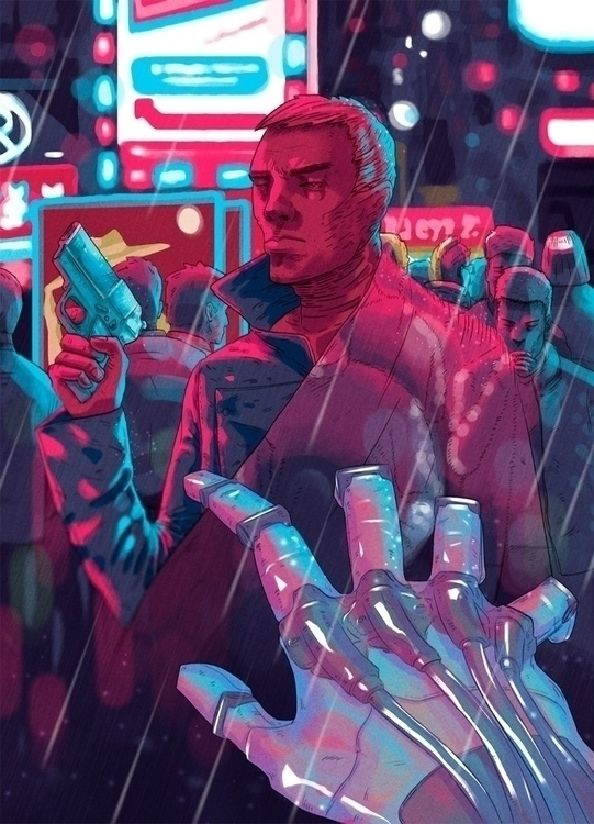 Hunting androids - illustration - foxhideblog | ello