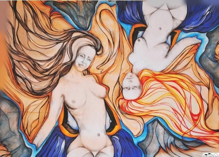 2 Woman - illustration, painting - emilio-7671 | ello