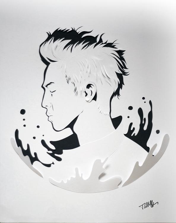 GD portrait - GDragon, Kpop, paper - talamaskanka | ello