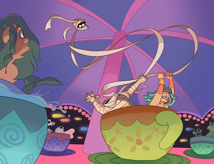 Mummy Medusa - Teacup ride marr - iffykins | ello