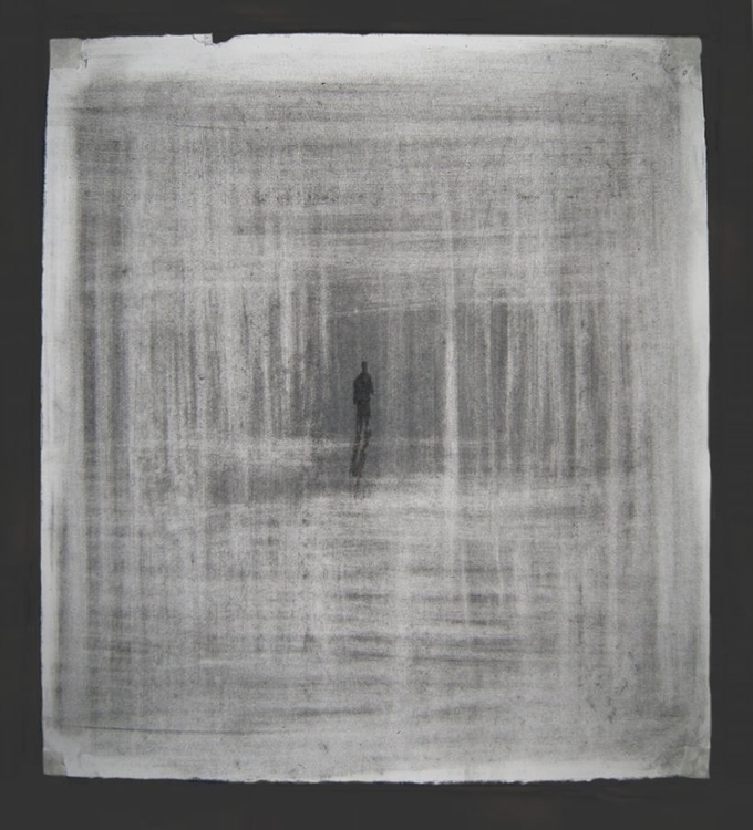 Isolation. Compressed charcoal  - mably | ello
