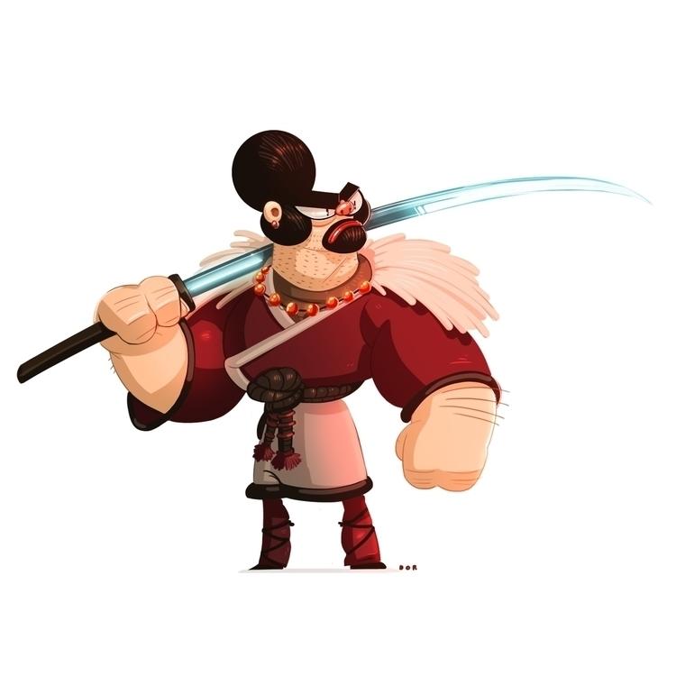 samurai, visualdevelopment, characterdesign - dorshamir | ello