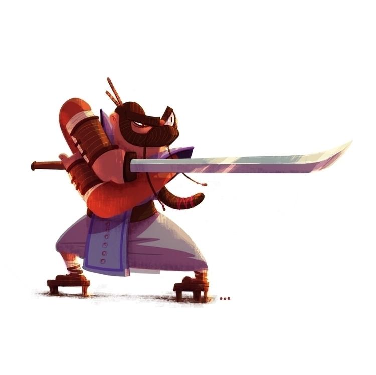 samurai, sword, characterdesign - dorshamir | ello