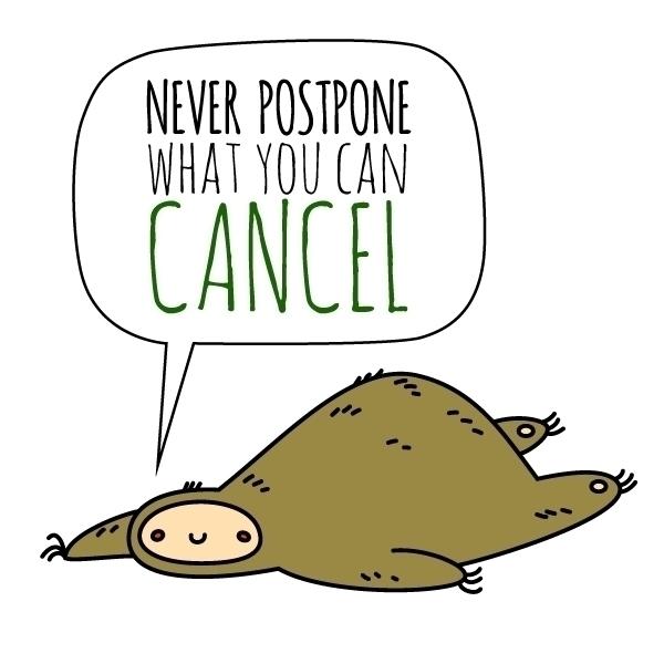 Sloth Wisdom - illustration, sloth - pushkina   ello