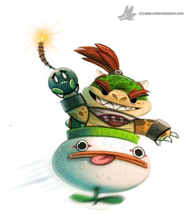 Daily Painting - Bowser Jr - 916 - piperthibodeau | ello