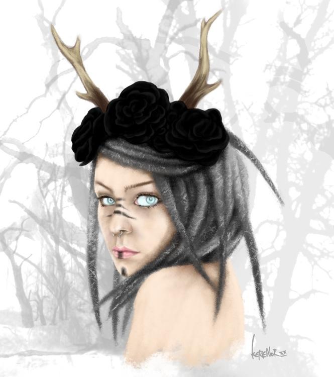 referenced photo Mai Agerlin - illustration - kerenor | ello