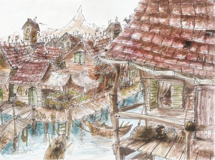 environment, drawing, painting - nahuelullua | ello