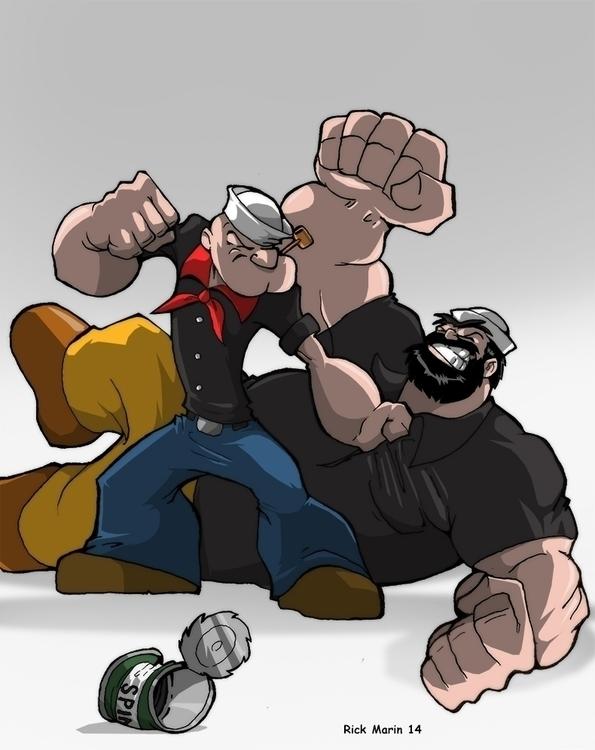 Popeye - illustration, animation - rickmarin | ello