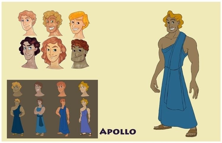 Apollo design sheet - apollo, greekmythology - gallagirl | ello