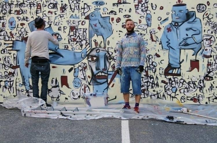 GóMS Duo Mural - painting, mural - margeirdire | ello