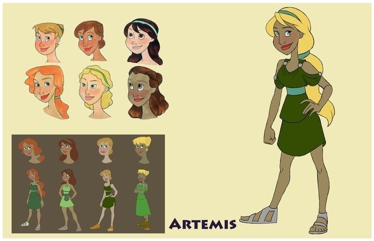 Artemis design sheet - greekmythology - gallagirl   ello