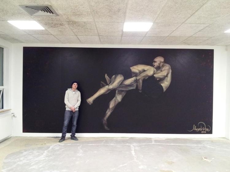Fenrir MMA mural - painting, streetart - margeirdire | ello