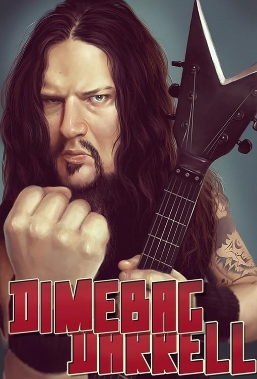 Dimebag Tribute - metal, art, portrait - nightshadeberry | ello