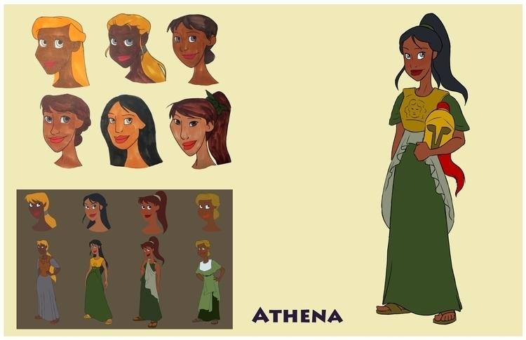 Athena design sheet - greekmythology - gallagirl   ello