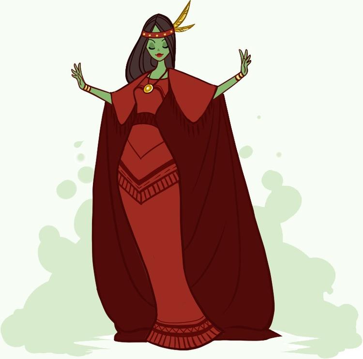 Red Poppy Maid. Character upcom - peipp | ello