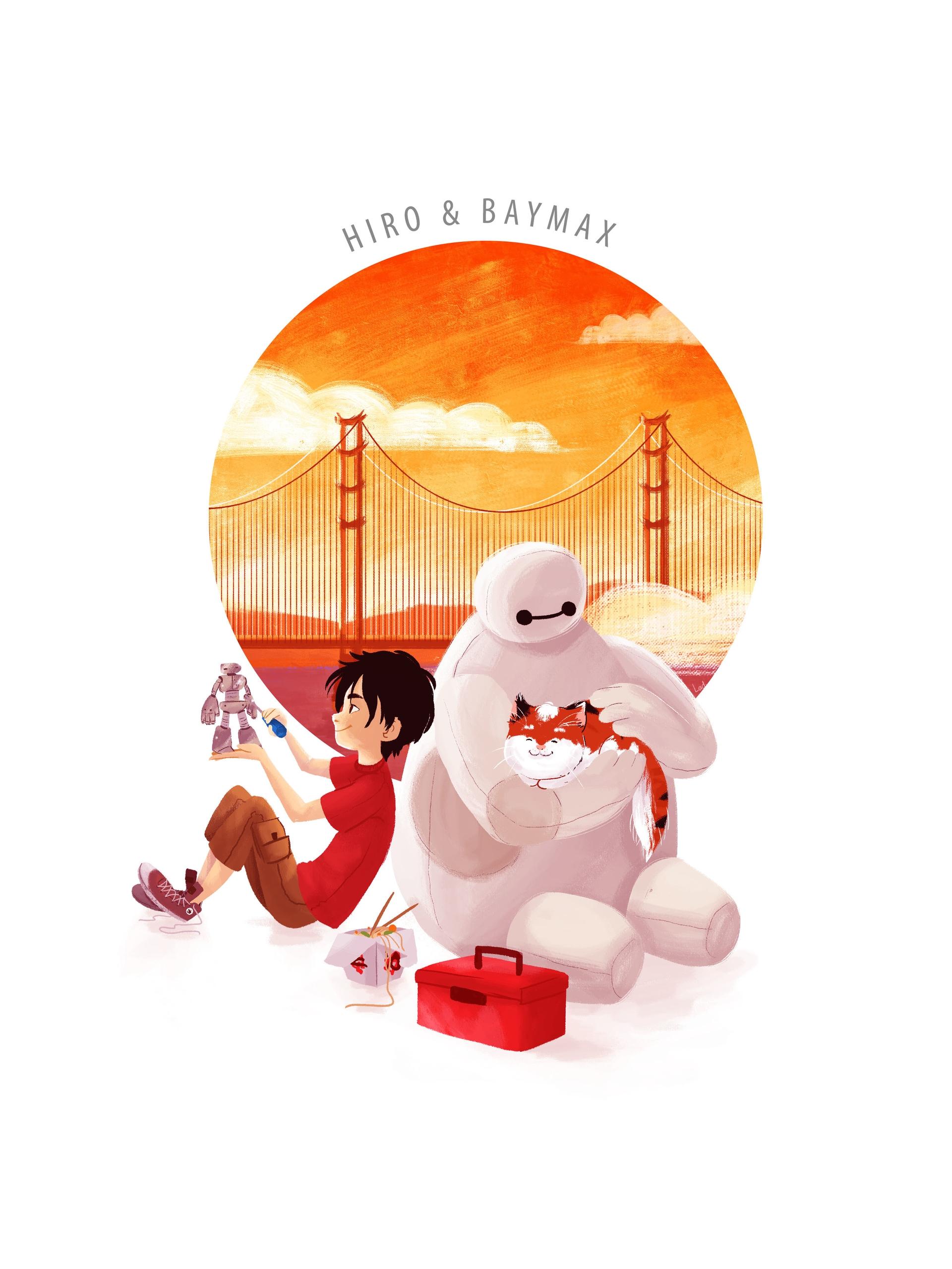 Hiro Baymax - illustration, bighero6 - ladyalouette | ello