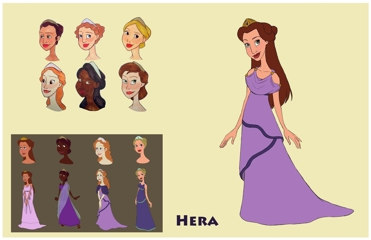 Hera design sheet - greekmythology - gallagirl | ello