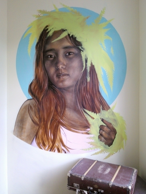 Bar Ananas Mural - painting, streetart - margeirdire | ello