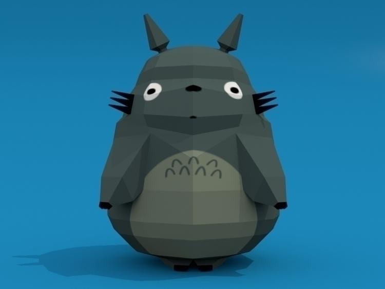 Neighbor Totoro Poly - lowpoly, studioghibli - davegamez | ello