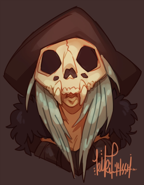 Witchsona - witch, bones, skull - kikiface | ello